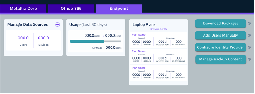 Endpoint hub tab screenshot