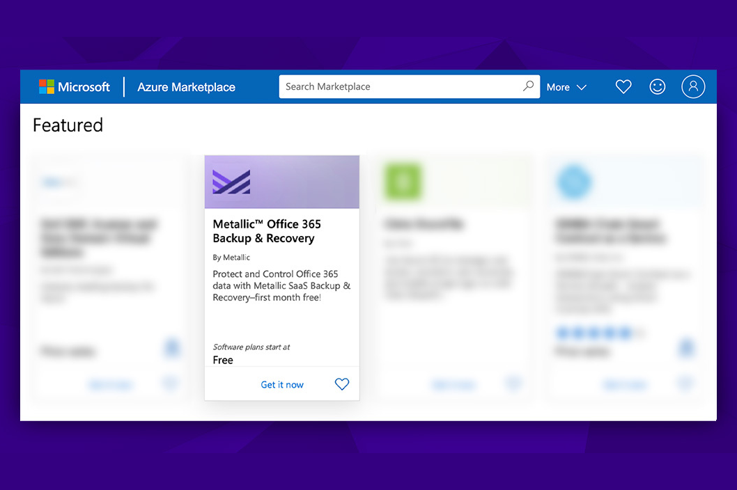 Metallic SaaS Available in the Microsoft Azure Marketplace